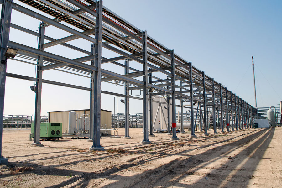 Structural Steel Pipes : Structural pipe rack satguru projects